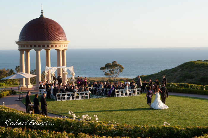 Erin Walking Down the Isle at Pelican Hill